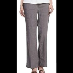 Eileen Fisher linen and viscose straight leg pant
